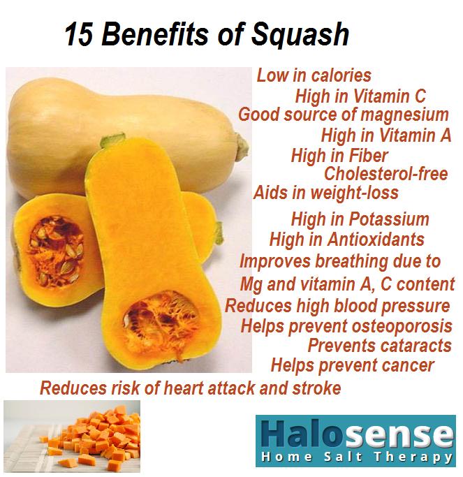 Squash health benefits