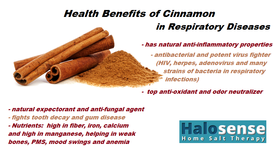Health Benefits of Cinnamon in Respiratory Diseases